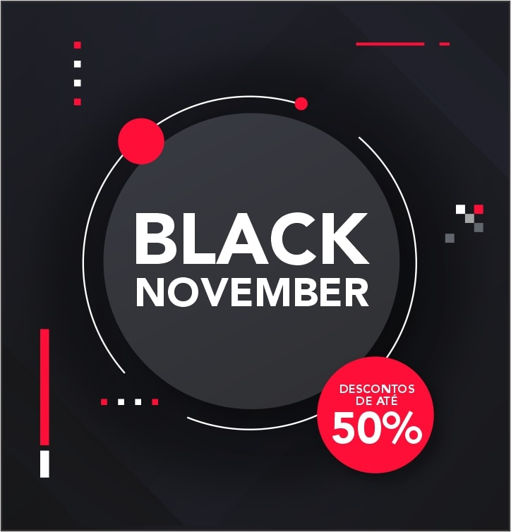 Black November até 50% OFF