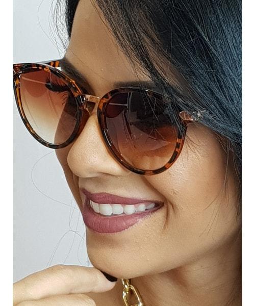 Óculos de Sol Marcapasso - Redondo Mesclado Marrom