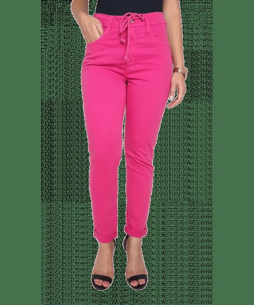 Calça Código Teen com Cordão - Pink