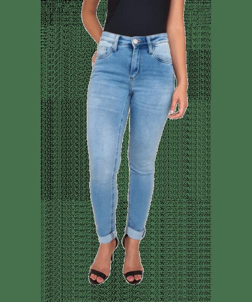Calça Código Teen Moletom com Lycra Skinny - Jeans Claro