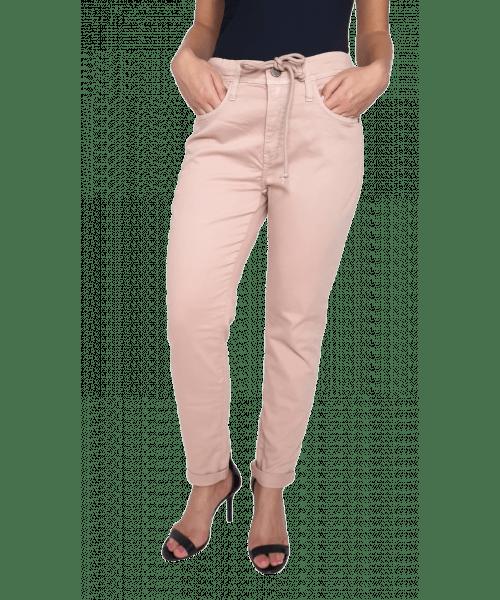 Calça Código Teen com Cordão - Bege Rosê