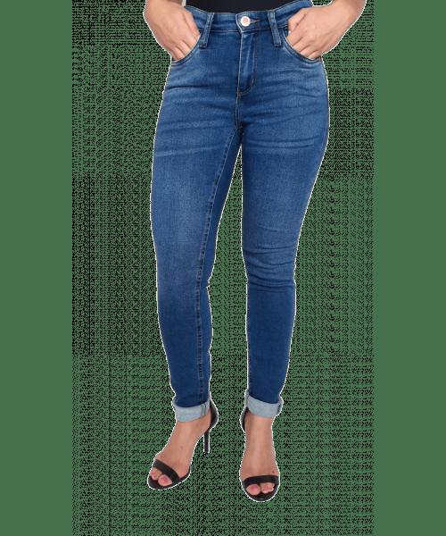 Calça Código Teen Moletom com Lycra Skinny - Jeans Escuro