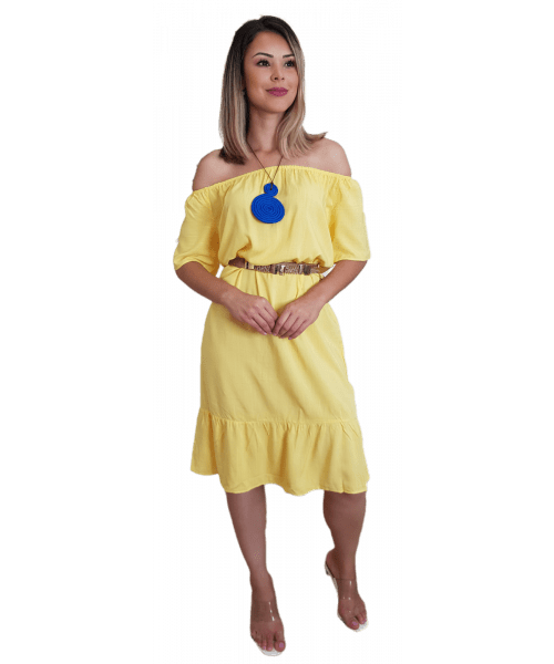 Vestido Fina Flor - Amarelo