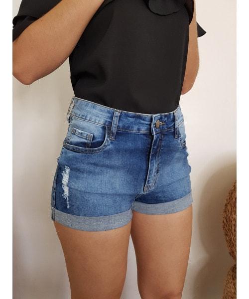 Shorts Código Teen - Jeans Escuro