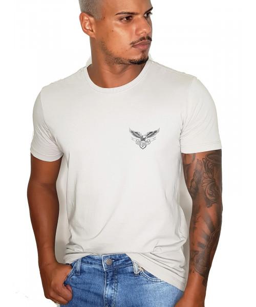 Camiseta ELLUS com Detalhe - Cinza