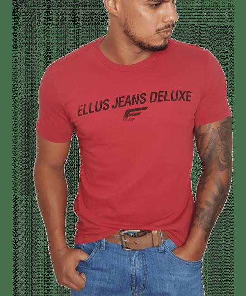 Camiseta Ellus Jeans Deluxe - Vermelha