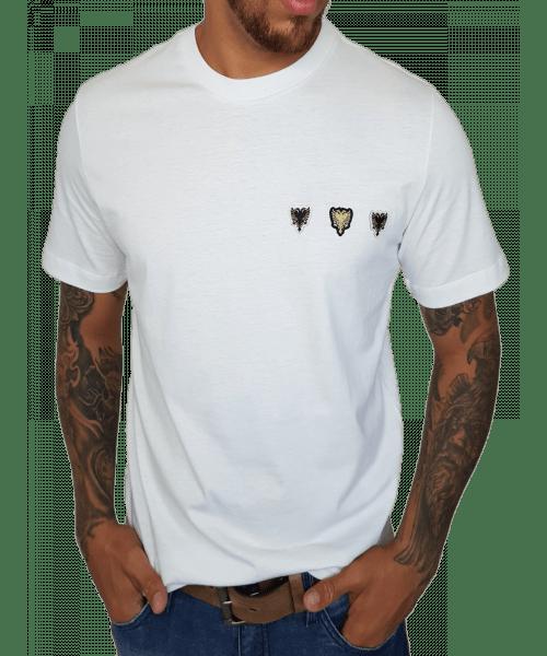 Camiseta Cavalera Patchs  - Branco