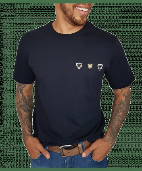 Camiseta Cavalera Patchs - Preto