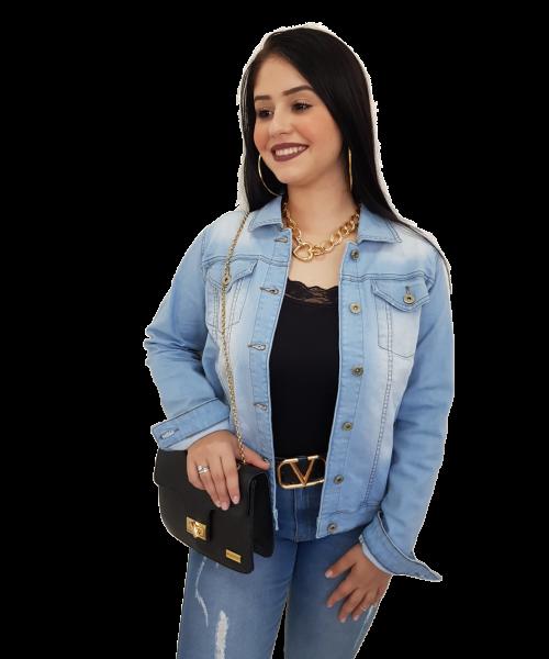 Jaqueta Código Teen Jeans Claro