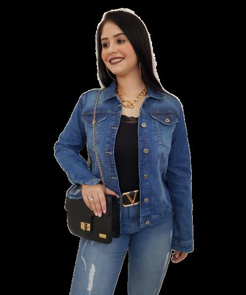 Jaqueta Código Teen Jeans Escuro