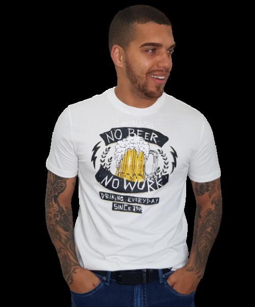 Camiseta CAVALERA No Beer No Work