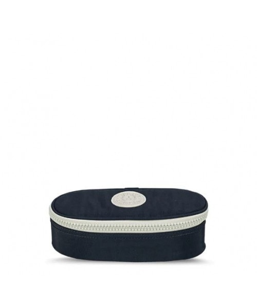 Estojo Kipling Duobox - Blue White Tone