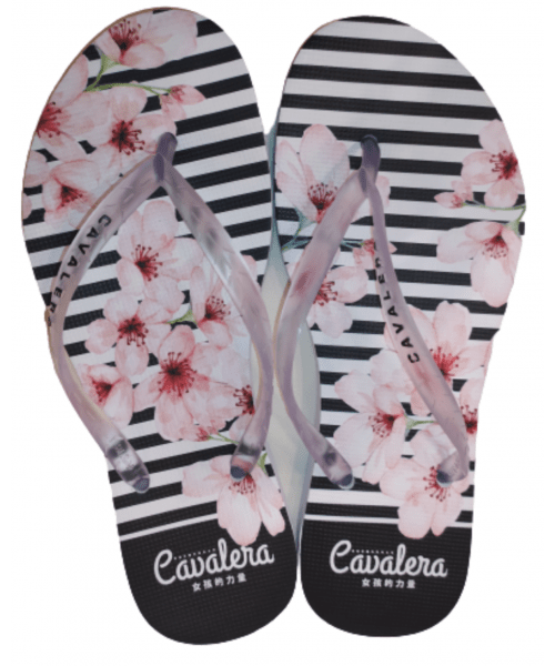 Chinelo Feminino CAVALERA - Floral Branco