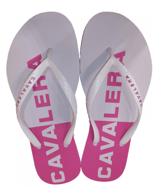 Chinelo Feminino CAVALERA - Branco / Pink