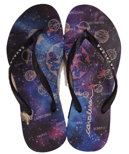 Chinelo Feminino CAVALERA - Galáxia Preto / Roxo