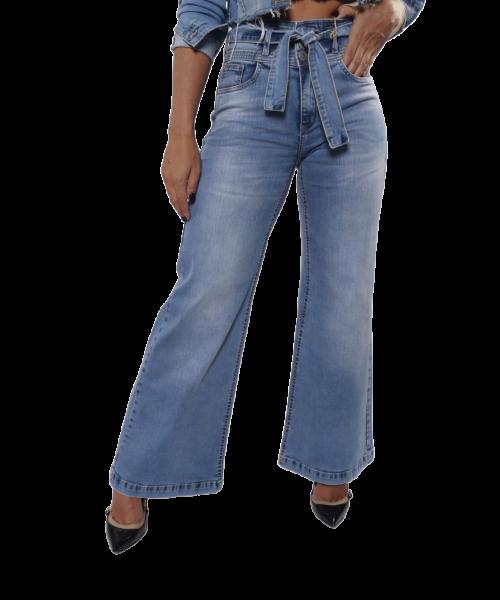Calça CÓDIGO TEEN Pantalona Jeans