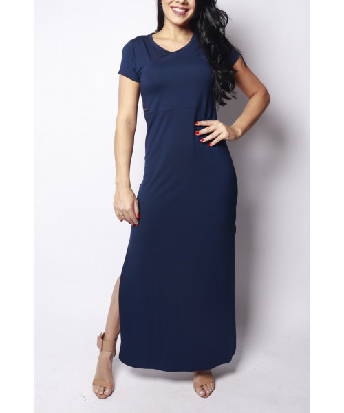 Vestido Elemento Zero Básico - Azul Marinho