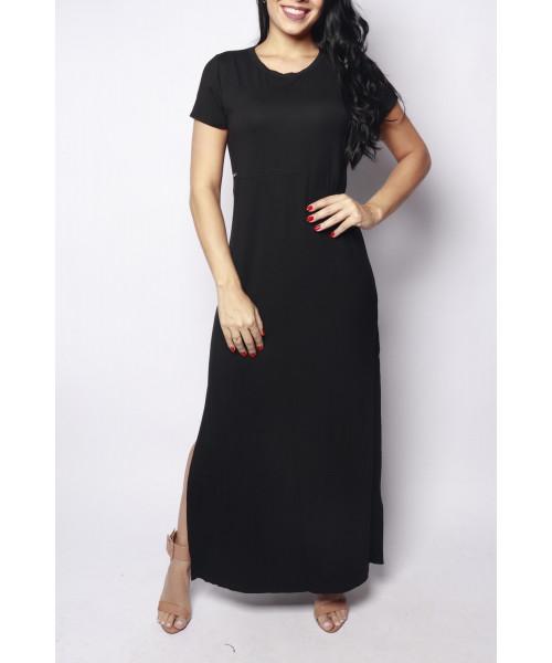 Vestido Elemento Zero Básico - Preto