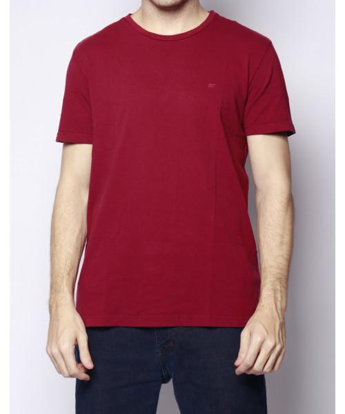 Camiseta ELLUS Básica C817 com logo - Vinho