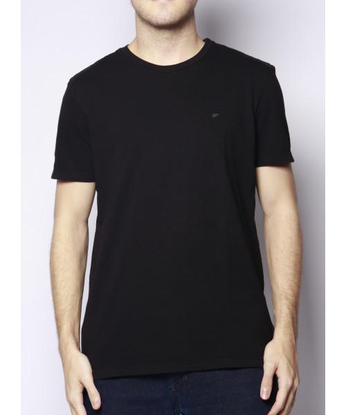 Camiseta ELLUS Básica C817 com logo - Preto