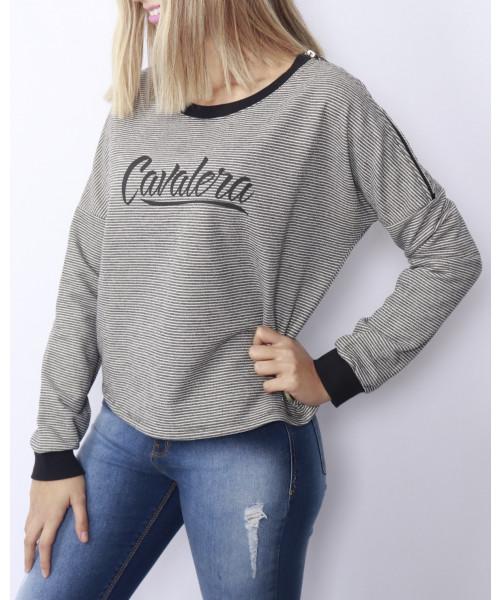 Moletom CAVALERA Feminino com logo - Cinza
