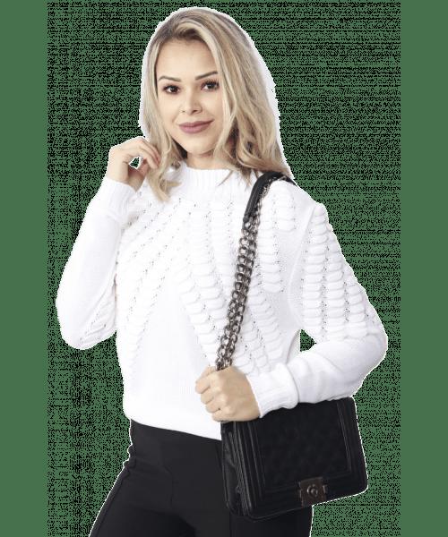 Tricot Escama M/L  - Branco