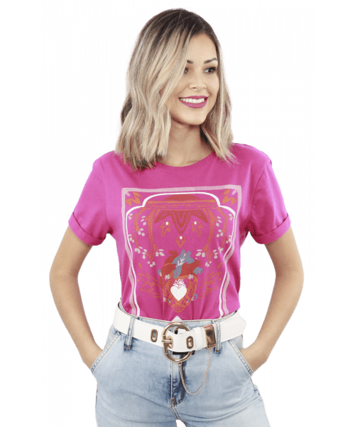 T-shirt Dzarm Amor - Pink