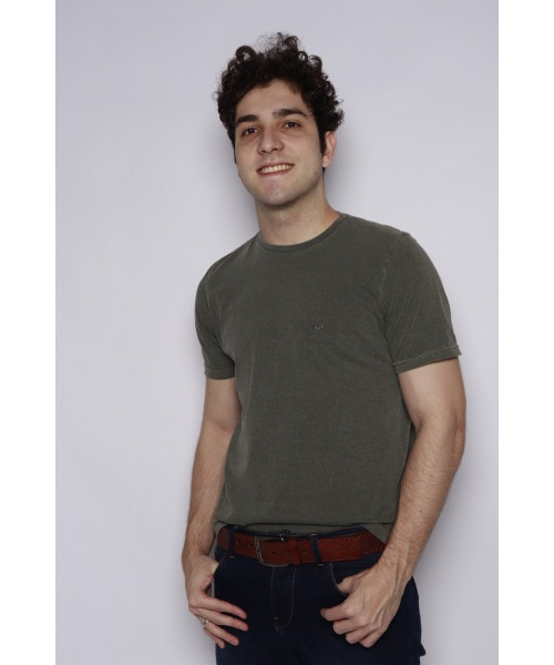 Camiseta Estonada Básica - Verde
