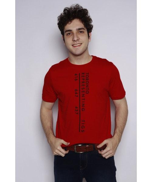 Camiseta Estampada - Vermelha