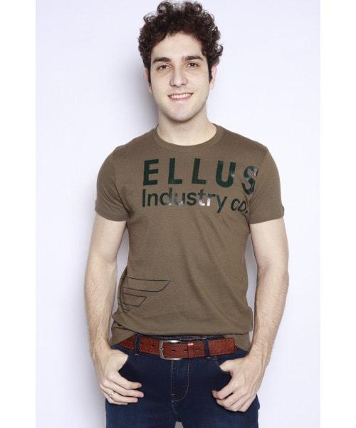 Camiseta ELLUS com Estampa Silk - Verde Militar