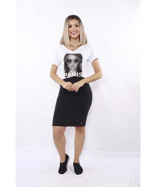 T-shirt Fina Flor Gola V
