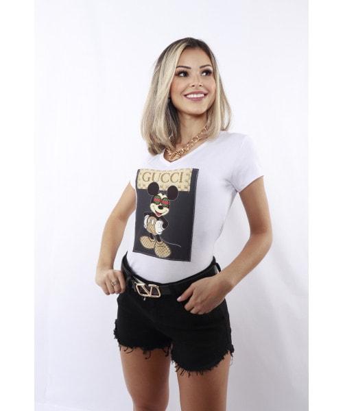 T-shirt Fina Flor Mickey Gola V