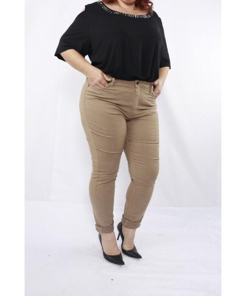 Calça Código Teen Jeans Skinny - Bege Escuro