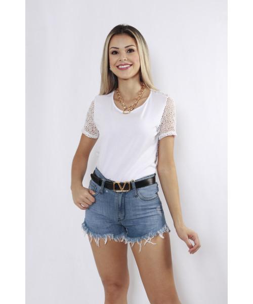 Shorts Código Teen Cintura Alta