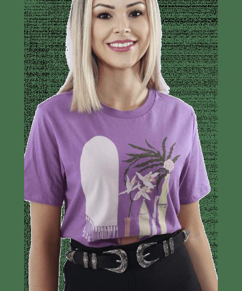 T-shirt Dzarm com estampa - Cor Uva