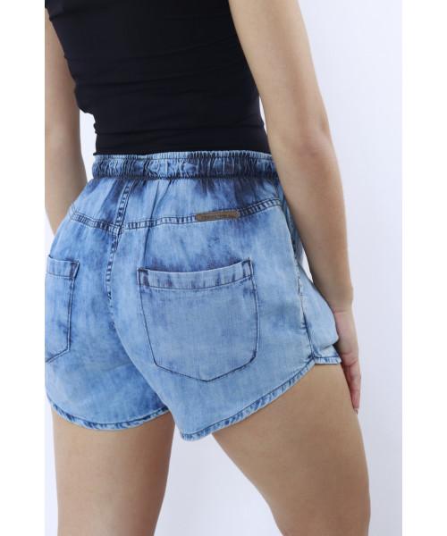 Shorts Código Teen em Tencel com Elástico na Cintura