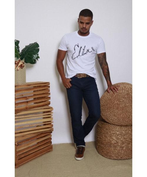 Camiseta Ellus Classic Cotton Fine Wire -  Branca