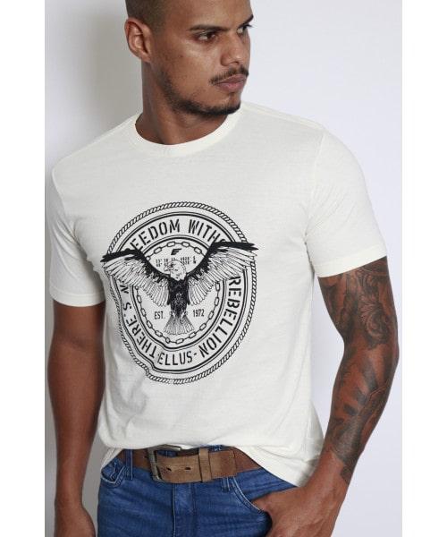 Camiseta Ellus Águia Freedom - White Off