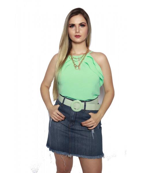 Saia Jeans Código Teen com Puídos