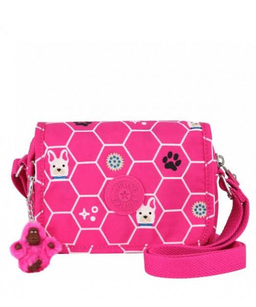 Bolsa Kipling Ikene - Pink Dog Tile