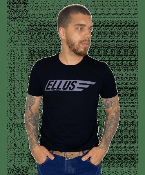 Camiseta Ellus Maxi Italic Sport - Preto