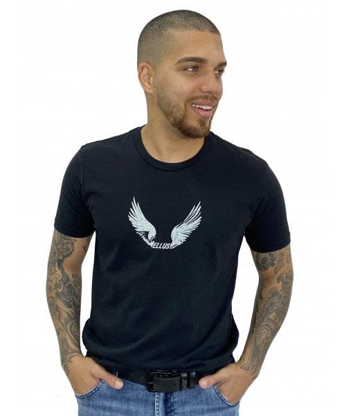Camiseta ELLUS Fine Wings Classic - Preta