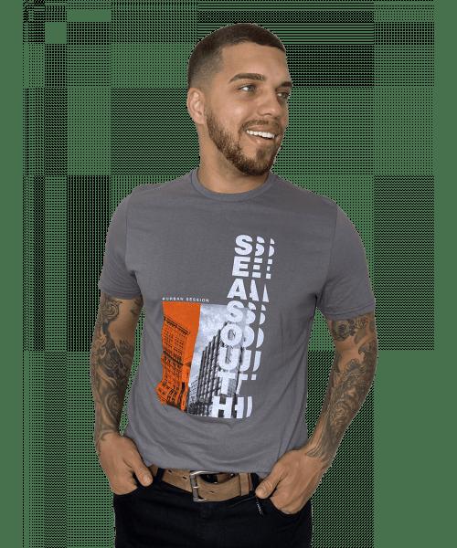 Camiseta Sea South Urban Session - Cinza