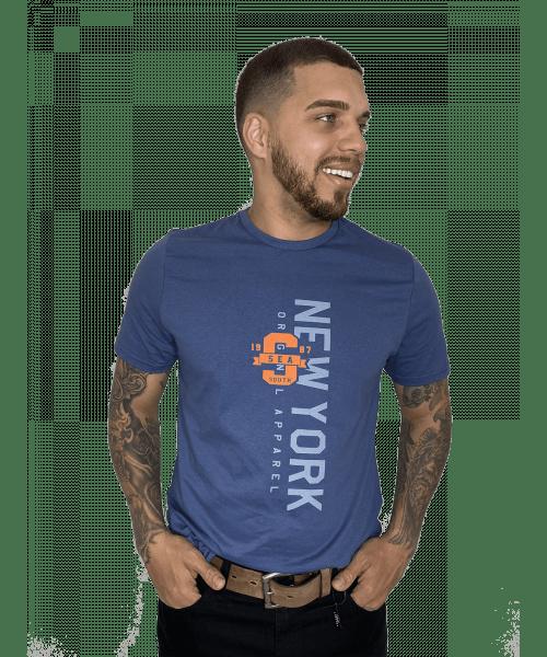 Camiseta Sea South New York - Azul