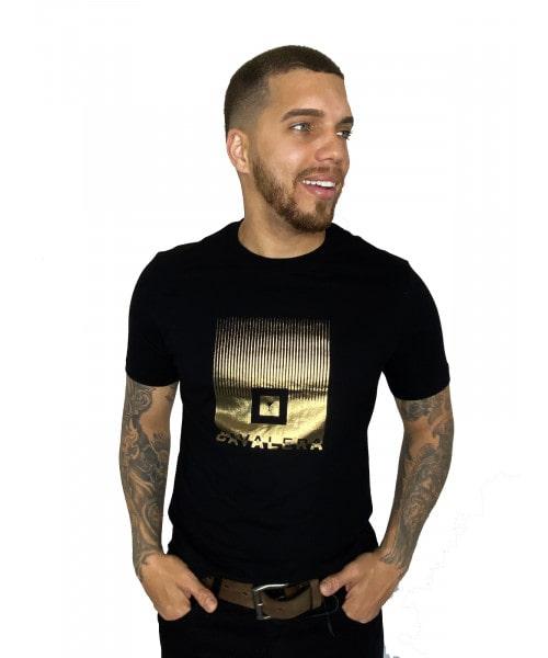 Camiseta Cavalera Square - Preta