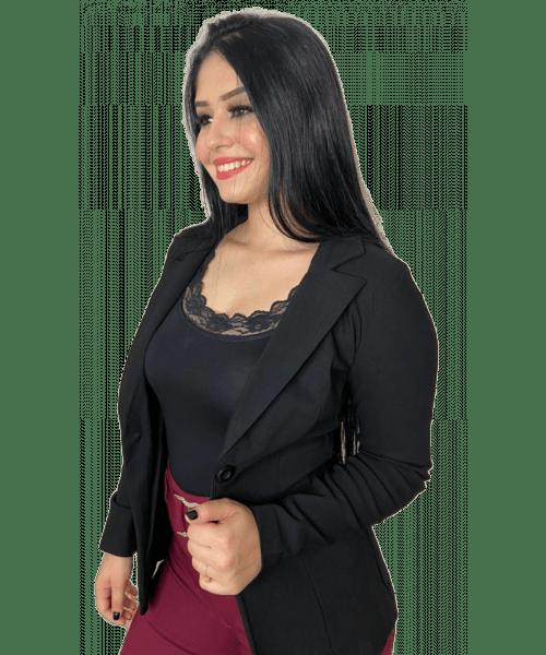 Blazer Emporium em Bengaline - Preto